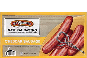 Natural Casing Cheddar Sausage